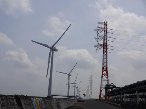 風力発電です。