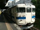 JR415系Fo-520編成普通苅田行き 下曽根駅にて