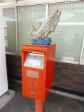 JR釜石駅 サケのポスト