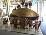 JR釜石駅 巨大なラグビーボールと猫選手 裏