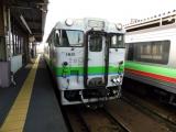 JRキハ40-1821 千歳駅にて