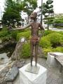 JR遠野駅 カッパの銅像2