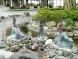 JR遠野駅 カッパの銅像3