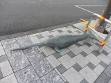 JR宇野駅 カジキ像