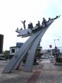 JR米沢駅 活力と創造と愛の21世紀都市・米沢をめざして 裏