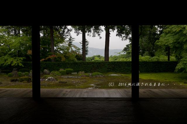 2016年6月19日撮影 京都・圓通寺 雨の借景庭園1