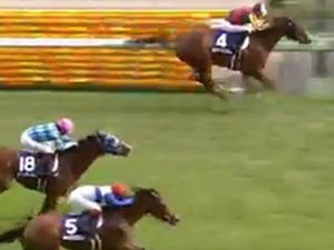 【NHKマイルカップ 結果動画】メジャーエンブレムが逃げ切り圧勝