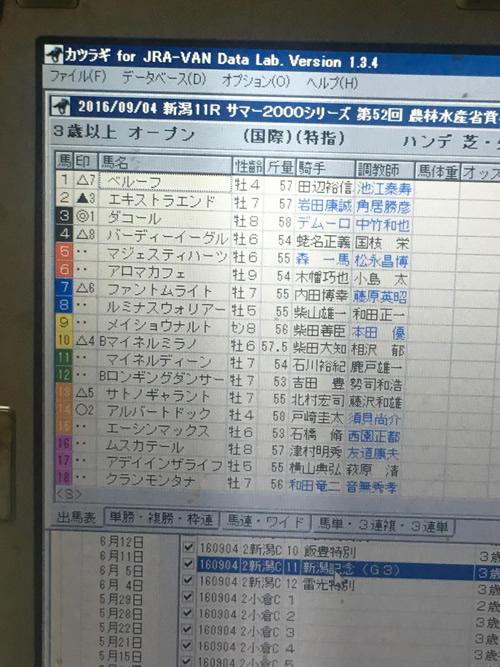 新潟記念 TARGET 2