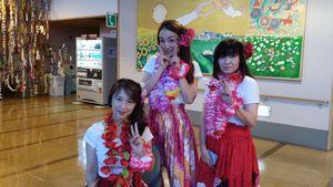 田代本町夏祭りで踊りました  うちの3人娘です