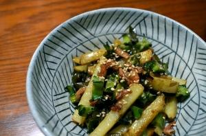 2016/08/30/四角豆とじゃが芋の炒り煮
