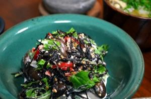 2016/10/04/うずら豆とひじきのサラダ