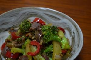 2016/10/17/砂肝と野菜の炒め物