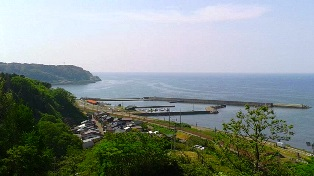 たにはま公園 海の見える丘から糸魚川方面