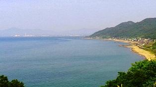 たにはま公園 海の見える丘から直江津方面