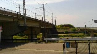 旧国鉄有間川橋橋桁(糸魚川側)