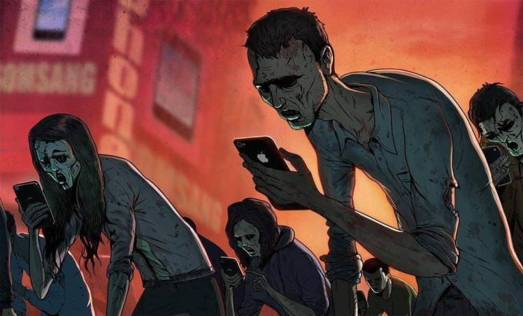スマートフォンの奴隷と化した人たち