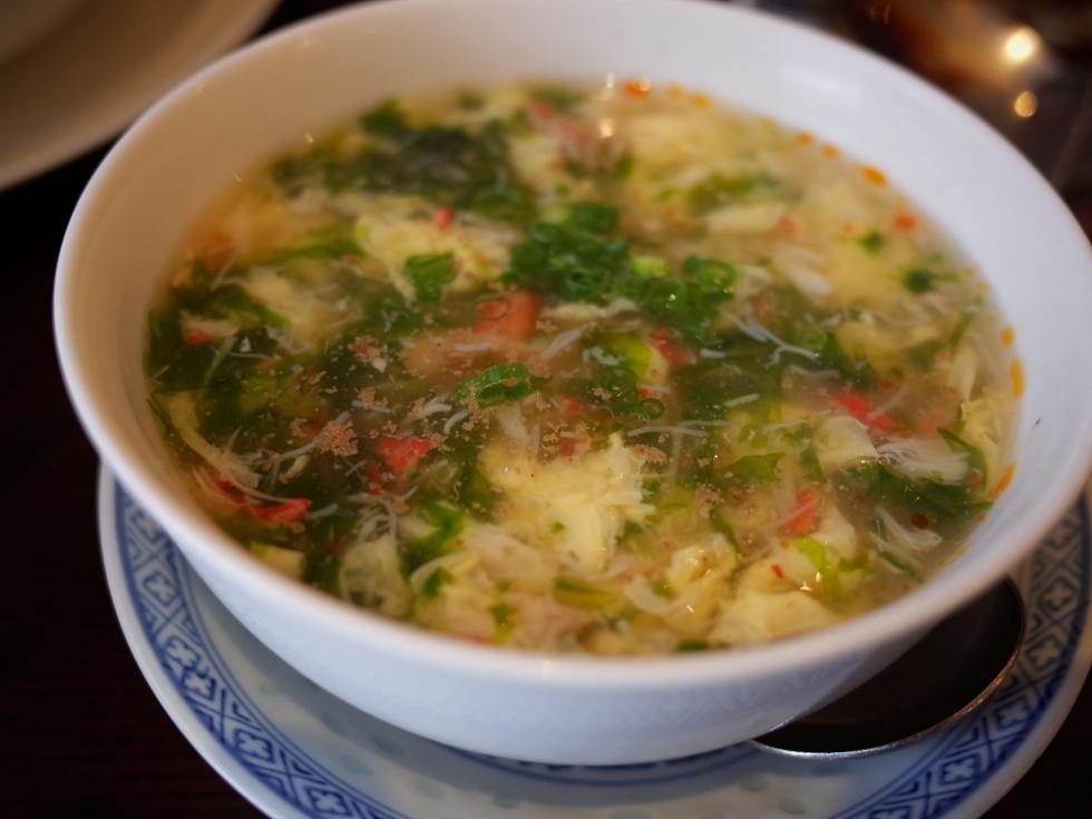 2 生海苔、蟹、卵の酸辣湯 (5)