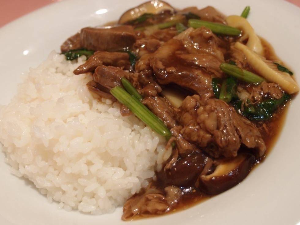 土佐赤牛のあんかけご飯 (1)