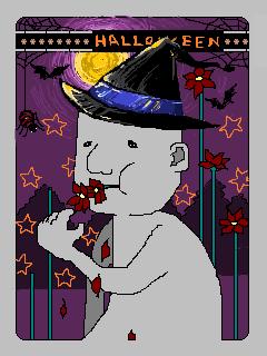 ハロウィン用自画像
