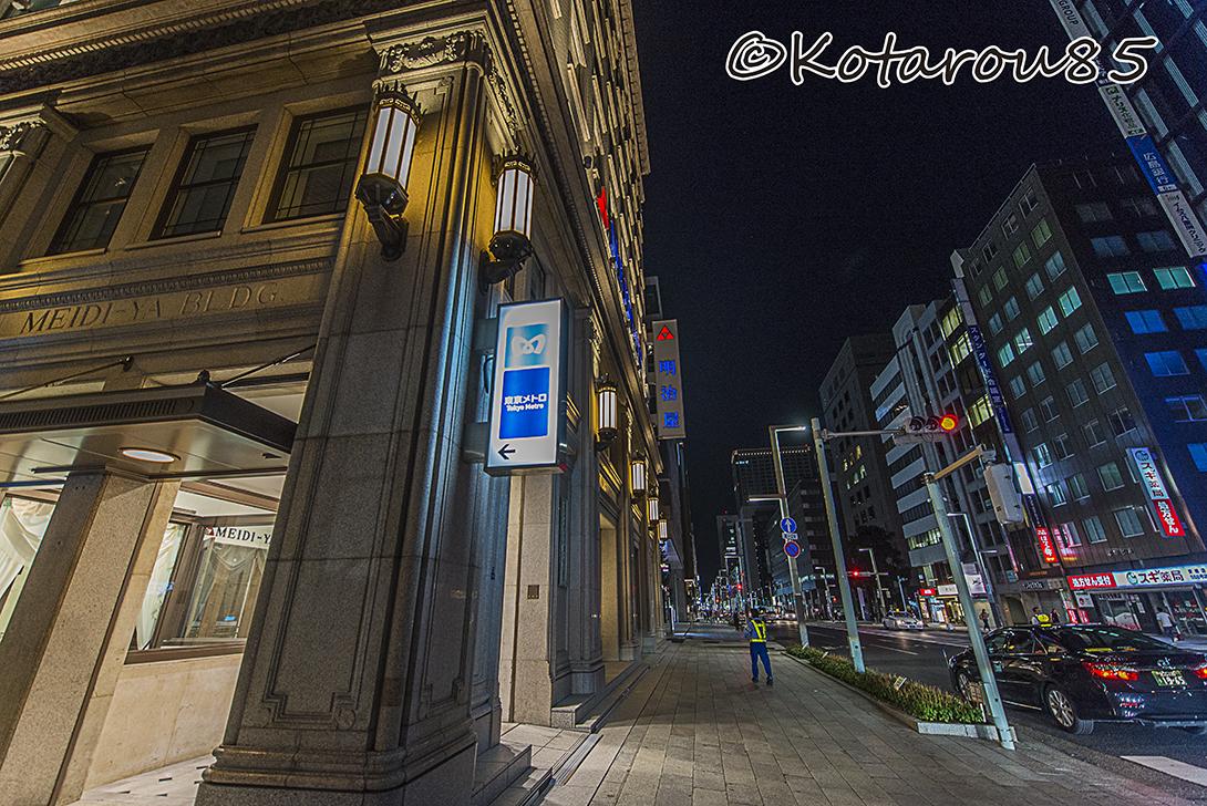 深夜の京橋駅 20160829