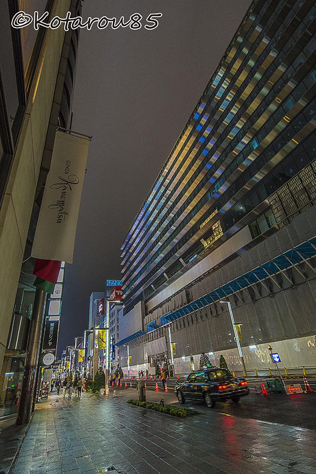 銀座松坂屋 まもなく竣工 20160923