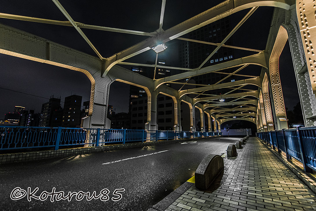 深夜の豊海橋 20160925