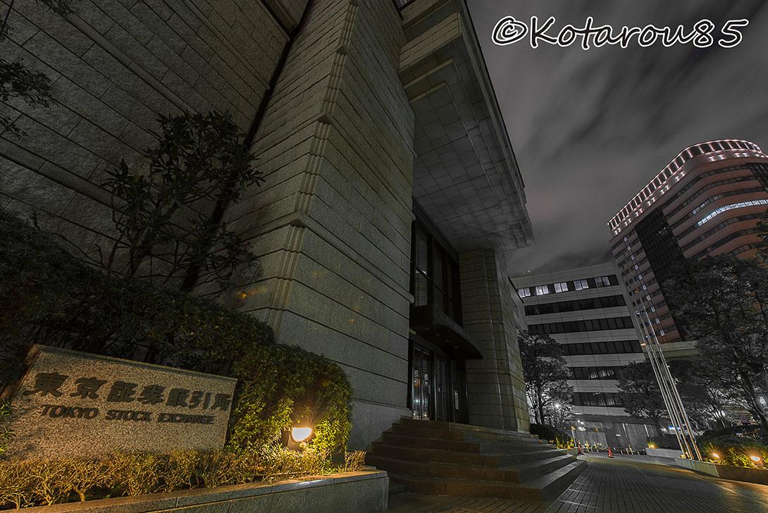 深夜の東京証券取引所 20161007