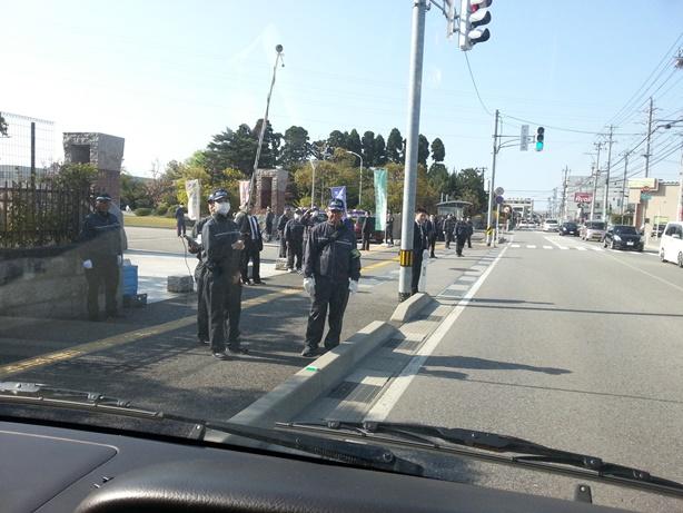 第4弾不二越訴訟を支援する中核派に対する抗議行動3