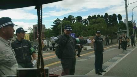 平成二十八年七月不二越訴訟を支援する中核派に対する抗議行動1