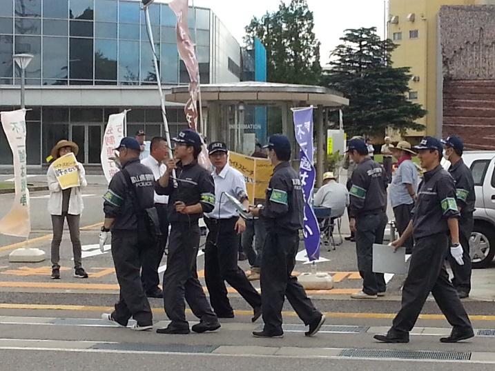 平成二十八年七月不二越訴訟を支援する中核派に対する抗議行動3
