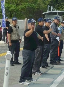 平成二十八年九月 不二越訴訟を支援する中核派に対する抗議行動5