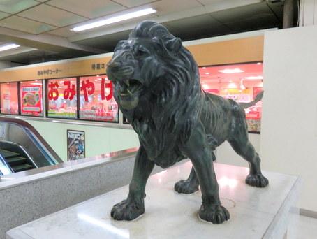 宇都宮駅のライオン