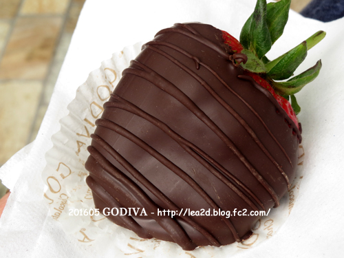 201605 GODIVA のチョコレートディップなストロベリー(Chocolate Dipped Strawberries)