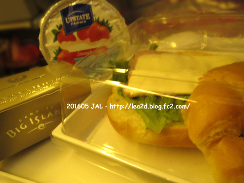 2016年5月 成田、ホノルル行き帰りのJALエコノミーな機内食。