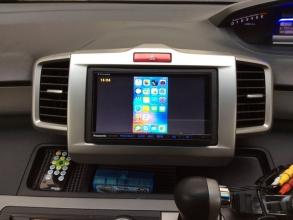フリードパワーアップ♪! iPhone/iPad画面を無線(ケーブルレス)で車載モニターに映し出す!