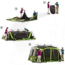 複数家族丸ごとキャンプ!「オザークトレイル 9人用 インスタント キャビン テントスクリーンルーム」♪