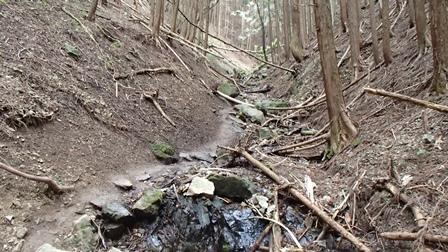正丸峠への道