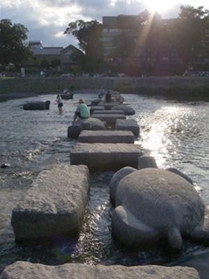 鴨川水遊び1608