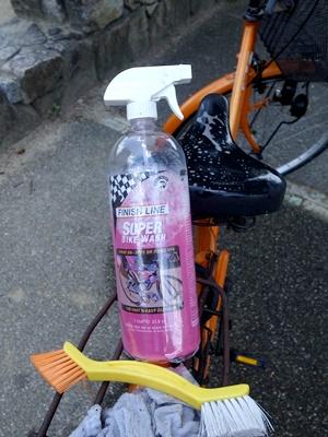 自転車洗車1608