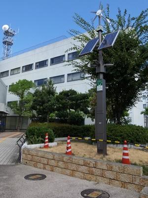 茨木土木事務所前エコ装置1608