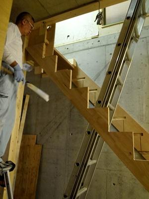 koyokan2階段工事1609
