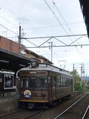 嵐電レトロ電車龍安寺駅1610