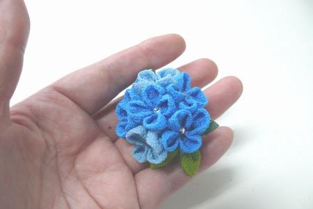 ちりめんの紫陽花