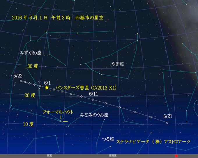 星図パンスターズ彗星20160522-0621