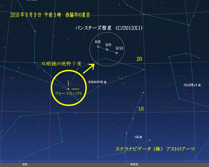 星図2016年6月8日~10日パンスターズ彗星