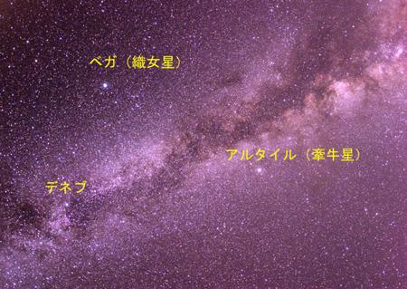 天の川(夏の大三角形)ベガ.アルタイル.デネブ