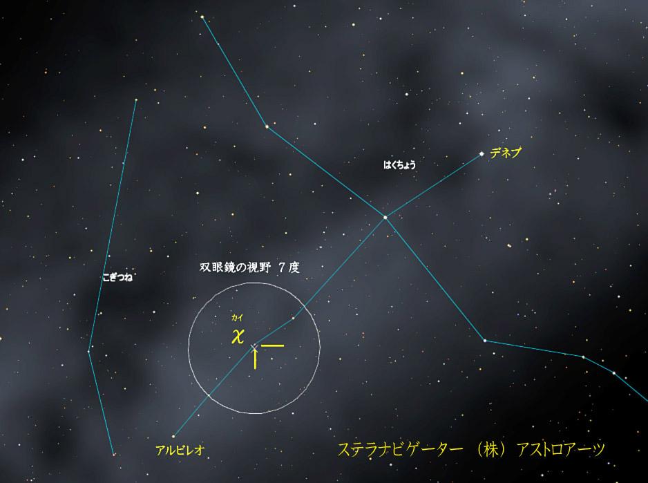 星図 はくちょう座χ(カイ)