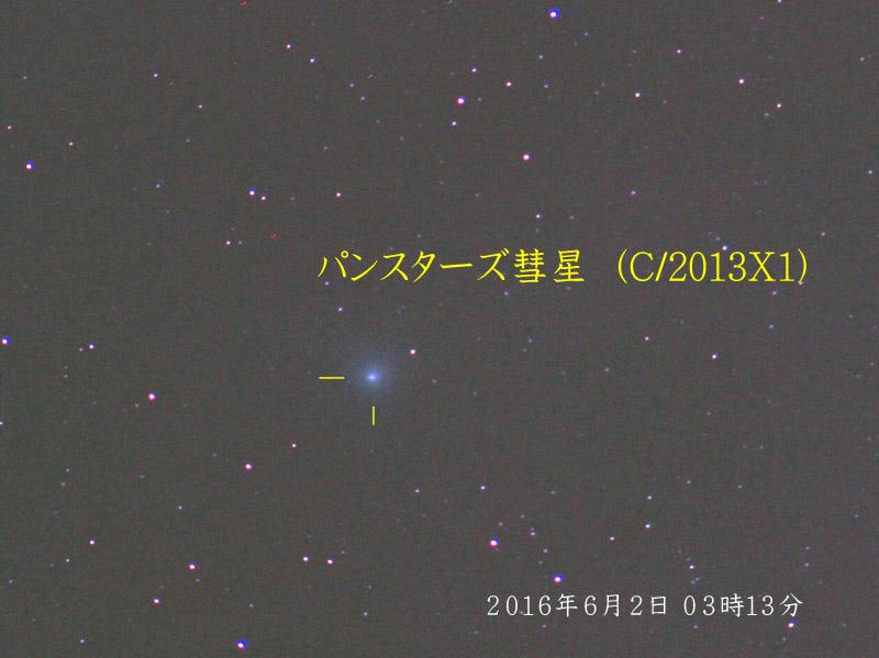 パンスターズ彗星(C/2013X1)20160602