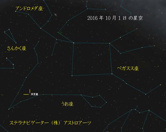 星座図 20161001 天王星001