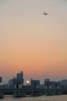 BL160527淀川大堰の夕日2IMG_0458